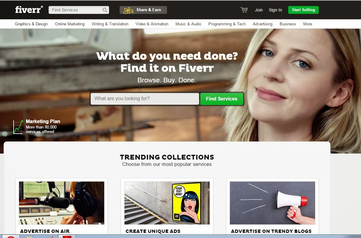 fiverr homepage