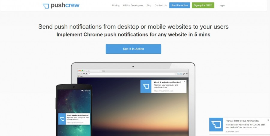 Push Notifications Service For Chrome, Firefox And Safari – Pushcrew