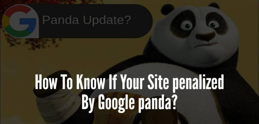 How To Know If Your Site penalized By Google panda?