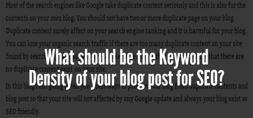 3a33c724b7f What should be the Keyword Density of your blog post for SEO  – EyeSwift