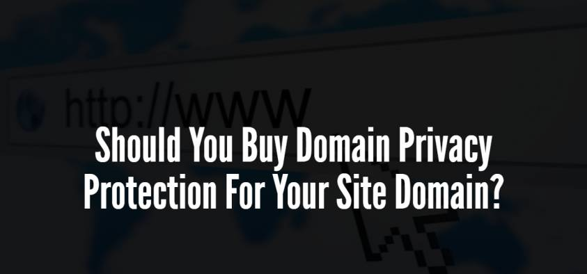 Should You Buy Domain Privacy Protection For Your Site Domain?