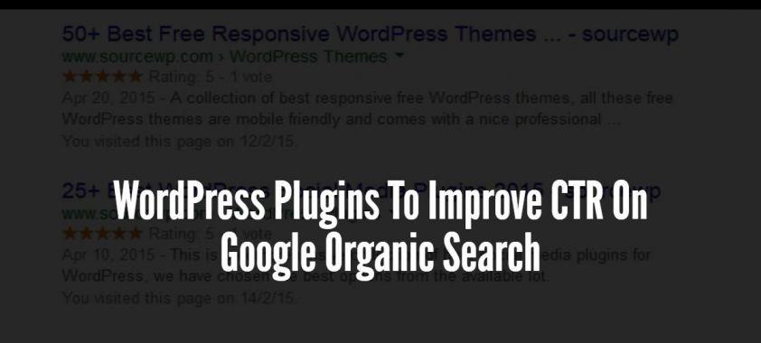 WordPress Plugins To Improve CTR On Google Organic Search