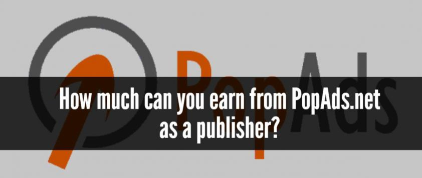 How much can you earn from PopAds.net as a publisher?