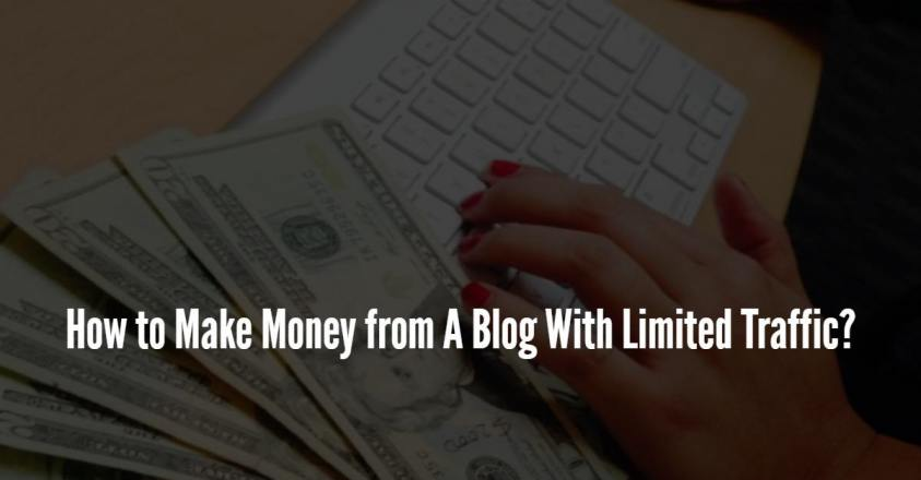 How to Make Money from A Blog With Limited Traffic?