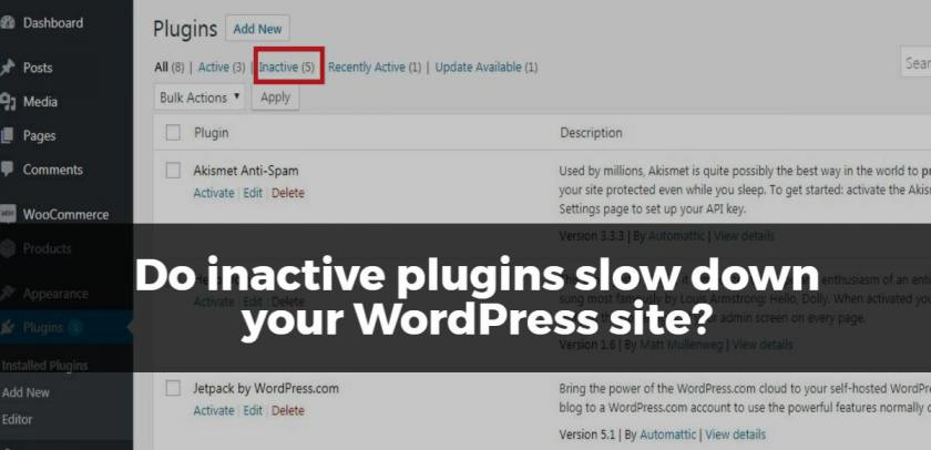 Do inactive plugins slow down your WordPress site?