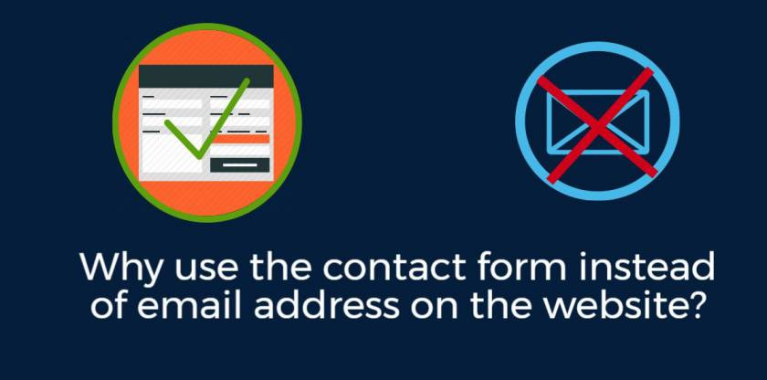 Why use the contact form instead of email address on the website?