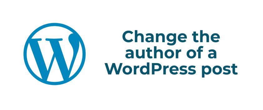 Change author of WordPress post
