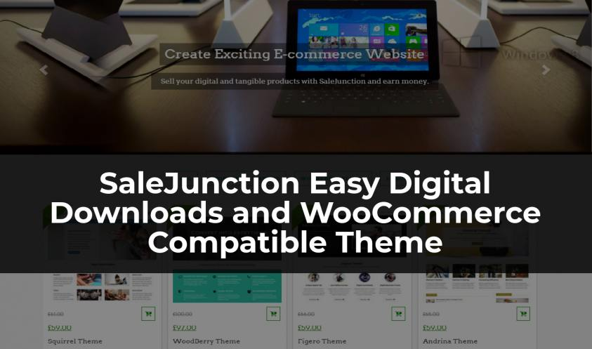 SaleJunction Easy Digital Downloads and WooCommerce Compatible Theme