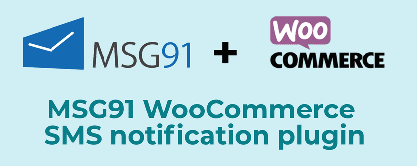 MSG91 WooCommerce SMS notification