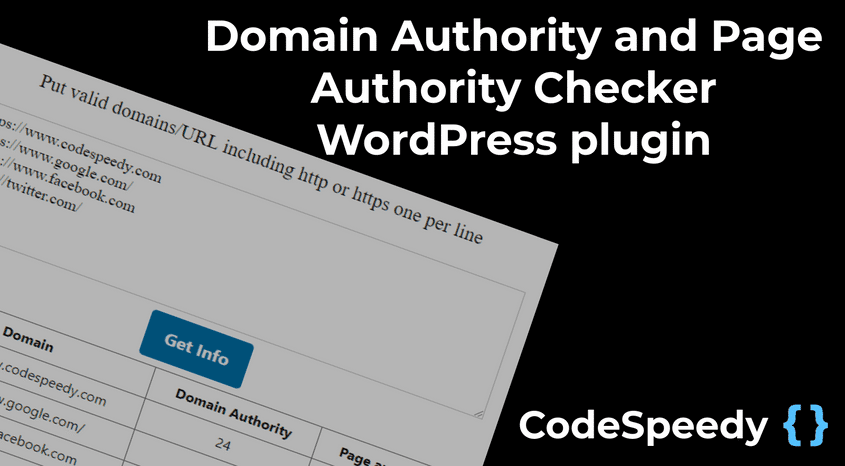 Domain Authority Checker WordPress plugin for SEO blog