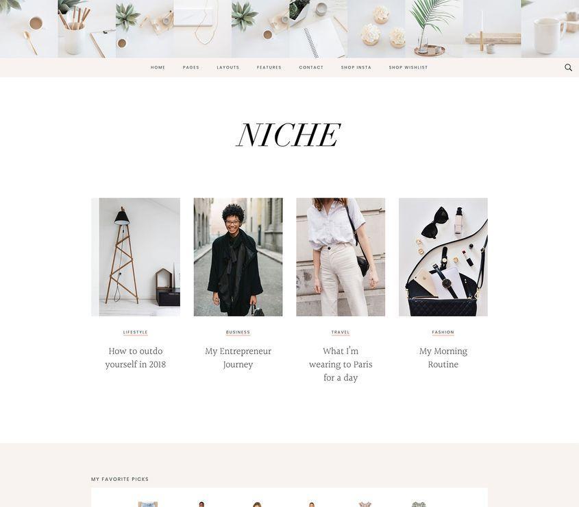 Niche Pro Theme for your lifestyle WordPress blog